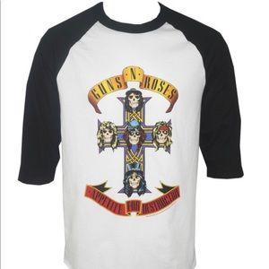 Guns N Roses Apetite for Destruction Raglan Shirt